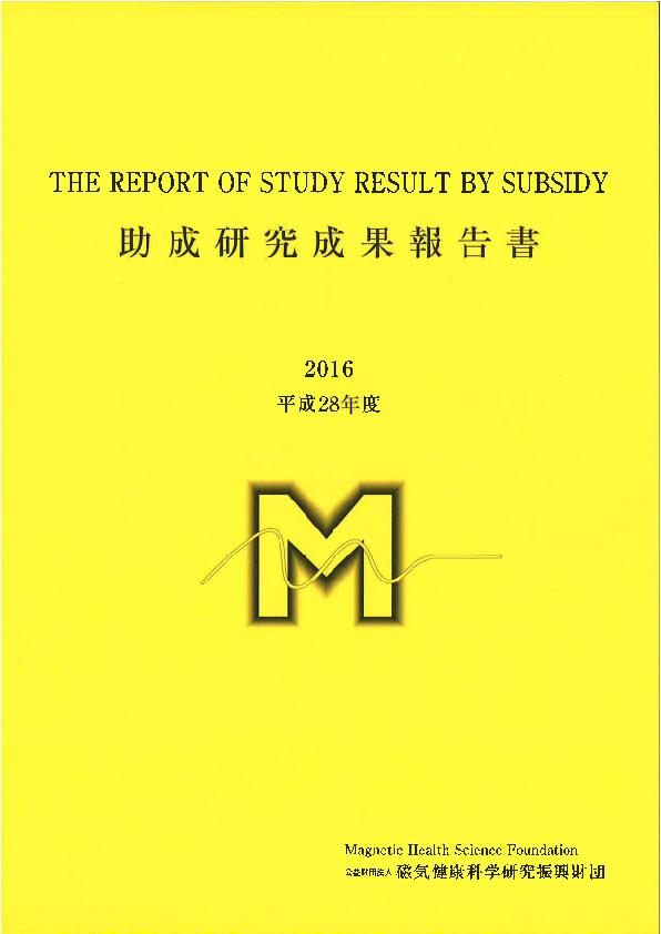 平成28年度 研究成果報告書
